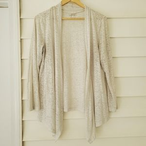 👌3for20 Sheer marled jersey waterfall cardigan